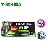 TOSHIBA 東芝 3號碳鋅電池(AA) 16入