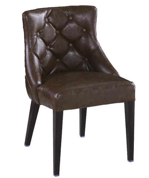 【 IS空間美學】霍華咖啡低背皮鐵藝餐椅