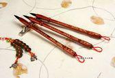 高級紅紫檀木經典胎毛筆2支,全手工打造,兼毫,可實際書寫。筆桿材質:紅紫檀木