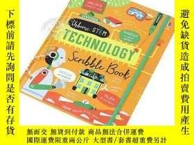 二手書博民逛書店尤斯伯恩科技筆記整理書罕見精裝 USB STEM:Technology Scribble Book 少兒科技互動書