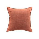 莎爾素色絨綿環保棉抱枕45x45cm紅