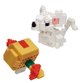 《 Nano Block 迷你積木 》NBC_301 老鼠與幸運槌╭★ JOYBUS玩具百貨