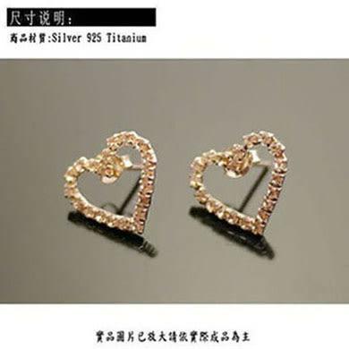 ╭☆ Silver shop ☆╯純銀 S925 耳環[ se 004 ]