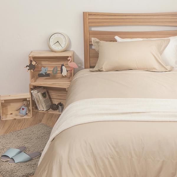 床包 / 雙人【簡單生活-淺系列-多色可選】含兩件枕套 100%精梳棉 戀家小舖台灣製AAA201