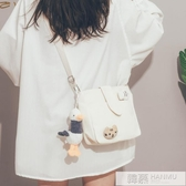 可愛小包包女2020新款潮古著感文藝帆布斜背包韓國校園單肩包  雙12購物節