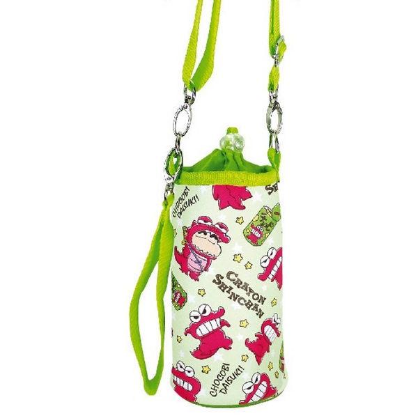日本蠟筆小新水壺袋斜背袋飲料袋保冷綠巧克比餅乾恐龍078479通販屋