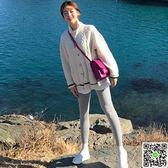 【Muzly】韓國ins風秋冬復古麻花紋撞色翻領針織開衫毛衣外套女 CY潮流站