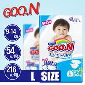 【GOO.N 】日本境內 最新款 大王尿布 (L) 54片/包 真品 平行輸入