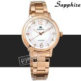 SE Sapphire / SE032L03WRR / 蝴蝶結 晶鑽刻度 藍寶石水晶玻璃 不鏽鋼手錶 白x鍍玫瑰金 31mm