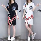 【GZ3E2】2018夏新款 韓版學生學院風裙子 中長款直筒顯瘦 女生小個子洋裝