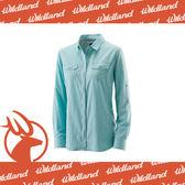【Wildland 荒野 女 拉鍊可調節抗UV襯衫《湖水藍》】W1201-65/透氣排汗/UPF30+/防曬襯衫/登山★滿額送