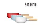 仙德曼SADOMAIN 琺瑯單柄雪平鍋  SV318 18cm 1.9L (復古紅、水樣藍、象牙白)