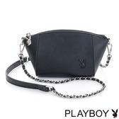 PLAYBOY- 鍊帶斜背小包 Punky playgirl系列-個性黑