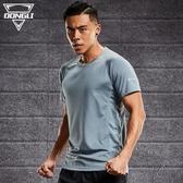 速乾衣 男士短袖運動T恤寬松足球夏季吸汗透氣跑步訓練籃球裝備健身上衣