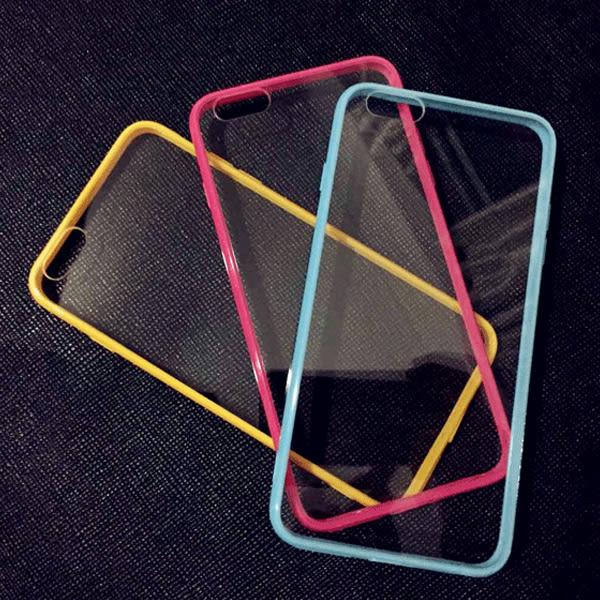 簡約玫瑰金 軟膠邊框 壓克力 掛繩 iPhone 7/8手機殼 iphone 6s plus手機殼