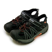 LIKA夢 LOTTO 專業排水護趾運動涼鞋 水陸冒險系列 黑灰 6360 女