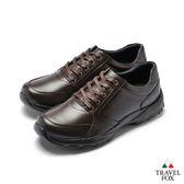 TRAVEL FOX(男) 舒適休閒紳士鞋帶款-深咖啡