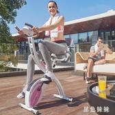 健身車迷你健身車折疊動感單車家用室內健全身器材WL2755【黑色妹妹】