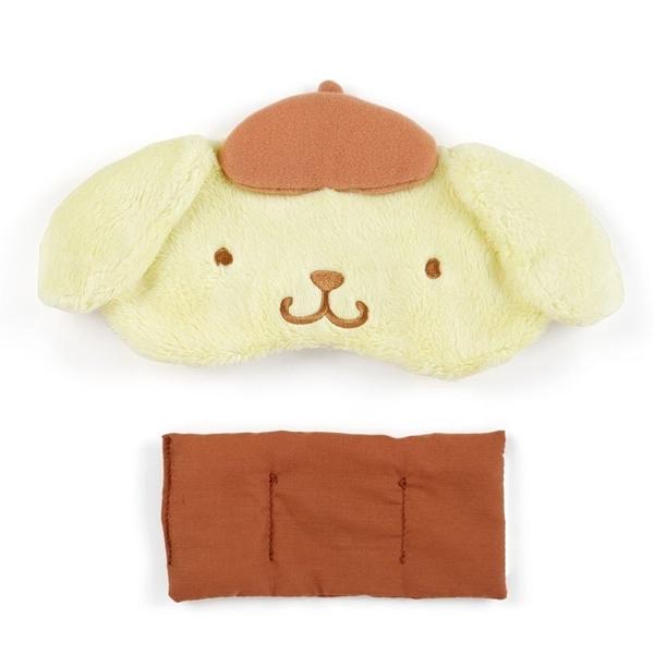 〔小禮堂〕布丁狗 立體耳朵造型絨毛熱敷眼罩《黃棕》舒壓眼罩.加熱眼罩 4901610-78430