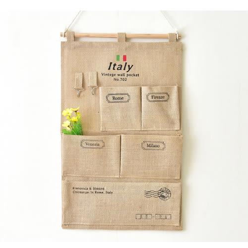 壁掛袋 多層收納袋 置物袋 信差袋  33*58【ZA0805】 BOBI  03/03