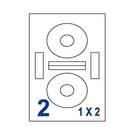 Unistar 裕德3合1電腦標籤紙 (56)UH117 2格 (100張/盒)