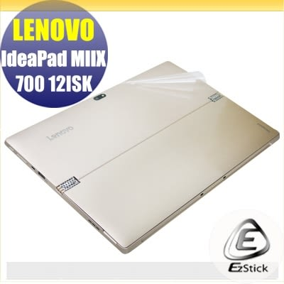 【Ezstick】Lenovo MIIX 700 12 專用 二代透氣機身保護貼(含上蓋、鍵盤週圍)DIY 包膜