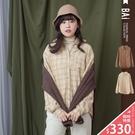 VOL946  琥珀配色排扣設計  簡單搭配出休閒風格  復古淺棕、大地淺卡~2色