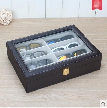 手工皮革眼鏡收納盒 墨鏡展示盒架 女款太陽鏡盒子