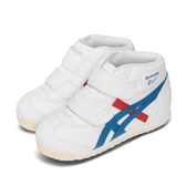 Onitsuka Tiger 休閒鞋 Mexico Mid Runner TS 白 紅 童鞋 小童鞋 魔鬼氈 運動鞋【ACS】 1184A001100