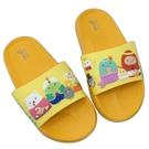 【樂樂童鞋】台灣製角落小夥伴拖鞋-黃色 B008 - 現貨 台灣製 男童鞋 女童鞋 拖鞋 兒童拖鞋