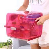 寶寶透明奶瓶收納箱帶蓋防塵收納盒奶粉便攜瀝水晾干架干燥奶瓶架 九折鉅惠
