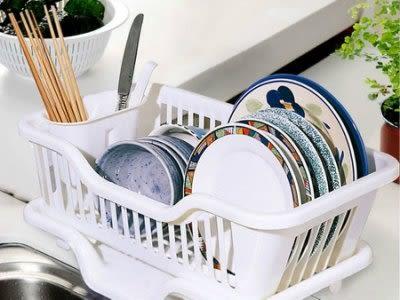 特大號塑料洗碗架 盤碗碟瀝水 雙層【藍星居家】