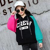 大尺碼連帽衛衣 女童洋氣加絨衛衣加厚秋裝新款韓版潮大兒童秋冬上衣 js17389『Pink領袖衣社』