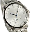 【萬年鐘錶】agnes b. 法式時尚風蜥蜴圖騰刻畫時尚腕錶 鋼帶 銀殼 銀錶面 黑字39mm VJ52-00AMB(BP9007J1)