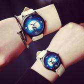 情侶對錶 一對韓版潮流個性韓式簡約時尚潮男女學生可愛皮帶錶 sxx3083 【雅居屋】