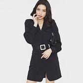 Qmigirl 韓版氣質收腰修身單排扣時尚西裝【WT1917】