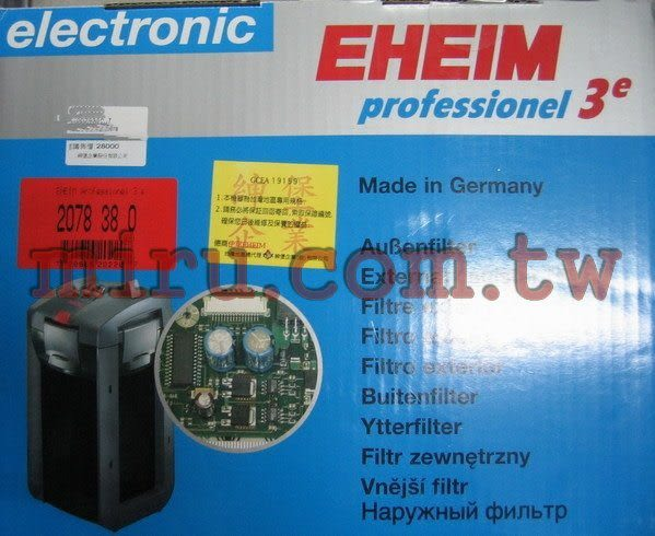 【西高地水族坊】德國EHEIM 2007年最新款 阿圖玩家3e (微電腦智慧型過濾圓桶)(不含濾材) 2076