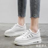 2019夏款新款網面潮鞋厚底鬆糕鞋透氣小白鞋子女TA9379【極致男人】