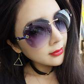 墨鏡女生正韓潮個性透明復古大臉眼鏡太陽鏡【全館八折限時促銷】