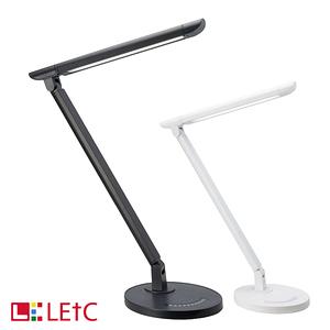 【LETC】七段式調光鋁合金護眼檯燈(內建1A輸出USB充電孔)黑