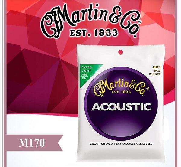 【小麥老師樂器館】民謠吉他弦 Martin M170 公司貨 現貨 馬丁 吉他弦【A136】木吉他弦 10-47 鋼弦