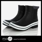 雨鞋 短筒登山雨鞋 女士防水歐美格紋低筒...