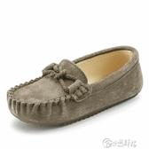 兒童豆豆鞋男春秋韓版一腳蹬軟底嬰兒鞋子單鞋男童寶寶鞋小童皮鞋 小城驛站