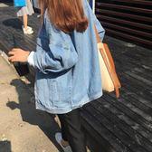 牛仔外套女 潮韓版bf原宿風寬鬆學生百搭牛仔衣 勞動節