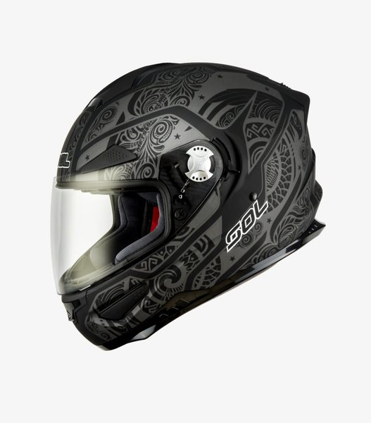【東門城】SOL SF-5 巴比倫 (消光黑銀) 全罩式安全帽 雙D扣 內鏡片