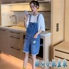 2020年夏季新款韓版時尚流行寬鬆小雛菊薄款牛仔背帶褲女短褲 KP489【甜心小妮童裝】