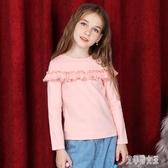 新款女童長袖t恤洋氣修棉質上衣韓版中大童寶寶童裝秋冬款潮 yu8692【艾菲爾女王】