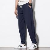 中國風唐裝男褲棉麻男褲子亞麻休閒褲寬鬆直筒哈倫褲復古大碼長褲