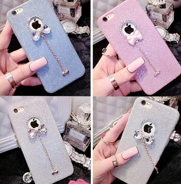 [24hr-現貨快出] iphone 6 7 plus TPU 閃粉 水鑽殼 蝴蝶結 手機殼 防摔殼