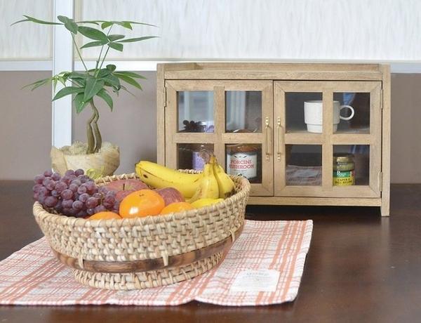 《齊洛瓦鄉村風雜貨》日本zakka雜貨 aziazi 木質雙門雙層收納櫃 收納小櫃子 格子窗收納櫃